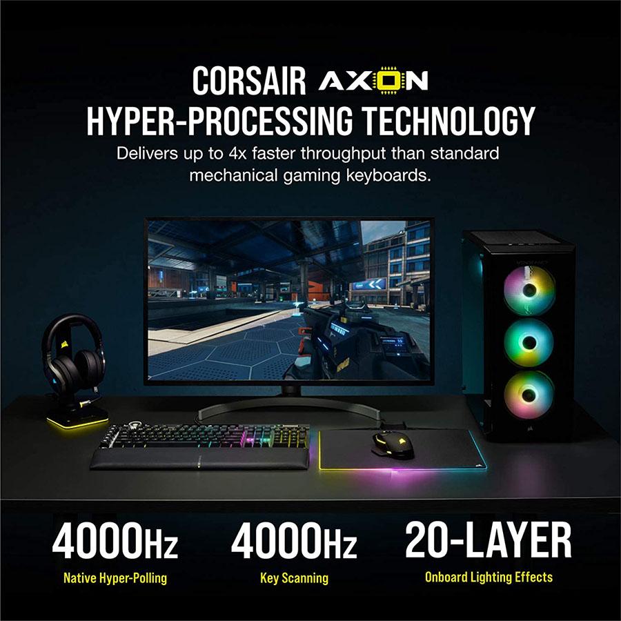 Công nghệ sợi trục xử lý nhanh hơn gấp 4 lần bàn phím cơ chơi game bình thường