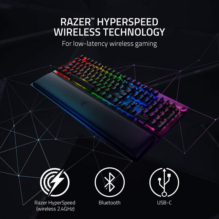 Công nghệ wireless Razer ™ HyperSpeed chơi game có độ trễ thấp và 3 cách kết nối