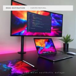 Giá treo màn hình máy tính gắn bàn tay đơn dài GM02