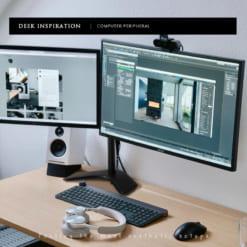 Giá treo màn hình máy tính để bàn tay kép dài GM07