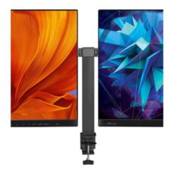 Giá treo màn hình máy tính gắn bàn tay kép dài GM08